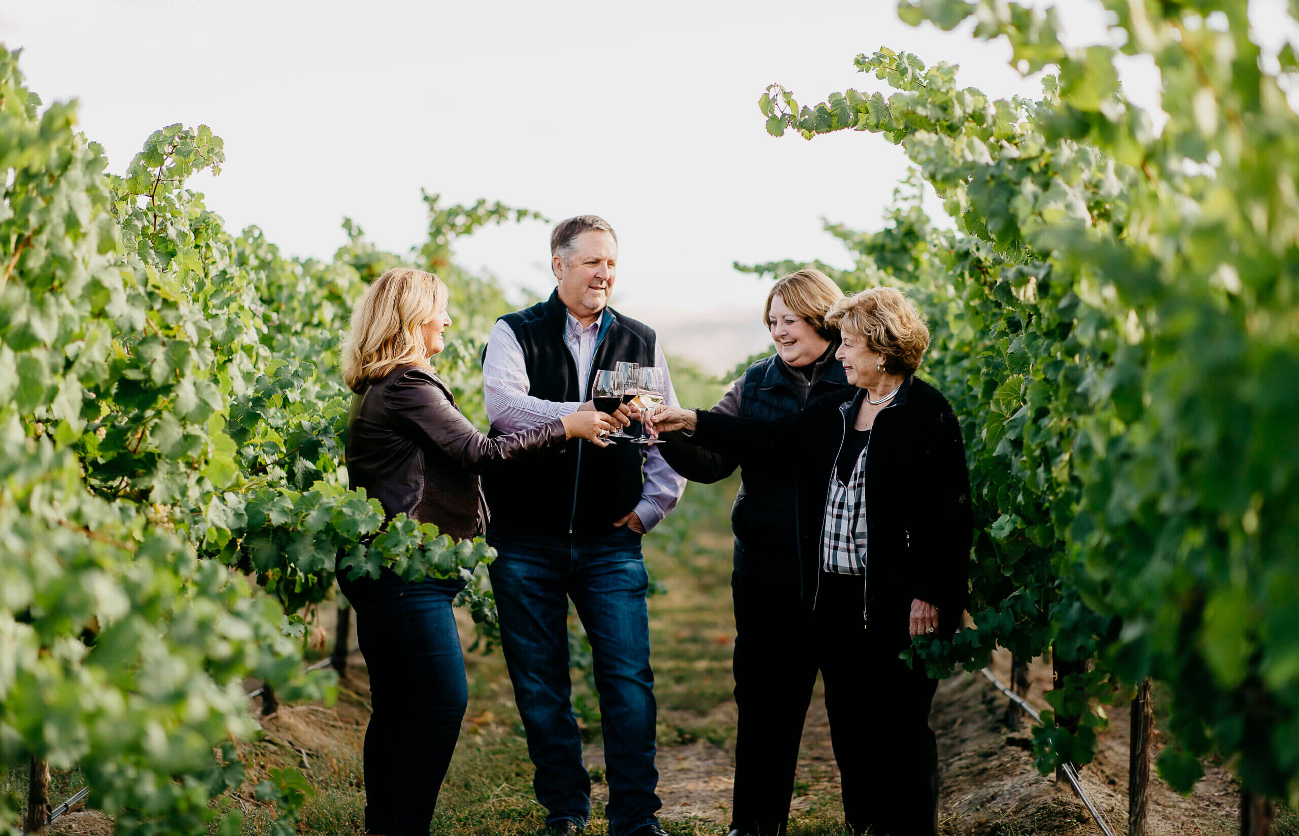 The Monson Family in the vineyards