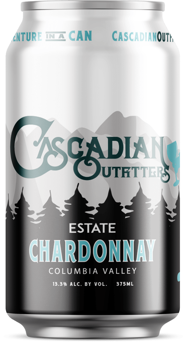 Cascadian Outfitters Estate Chardonnay Can